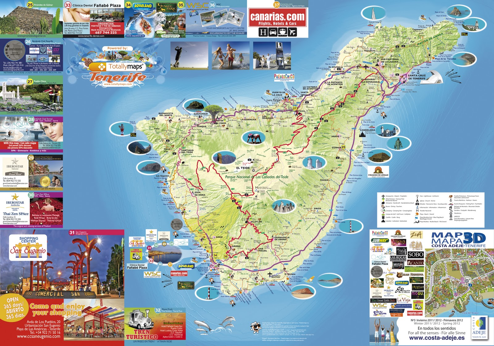 carte touristique de Tenerife