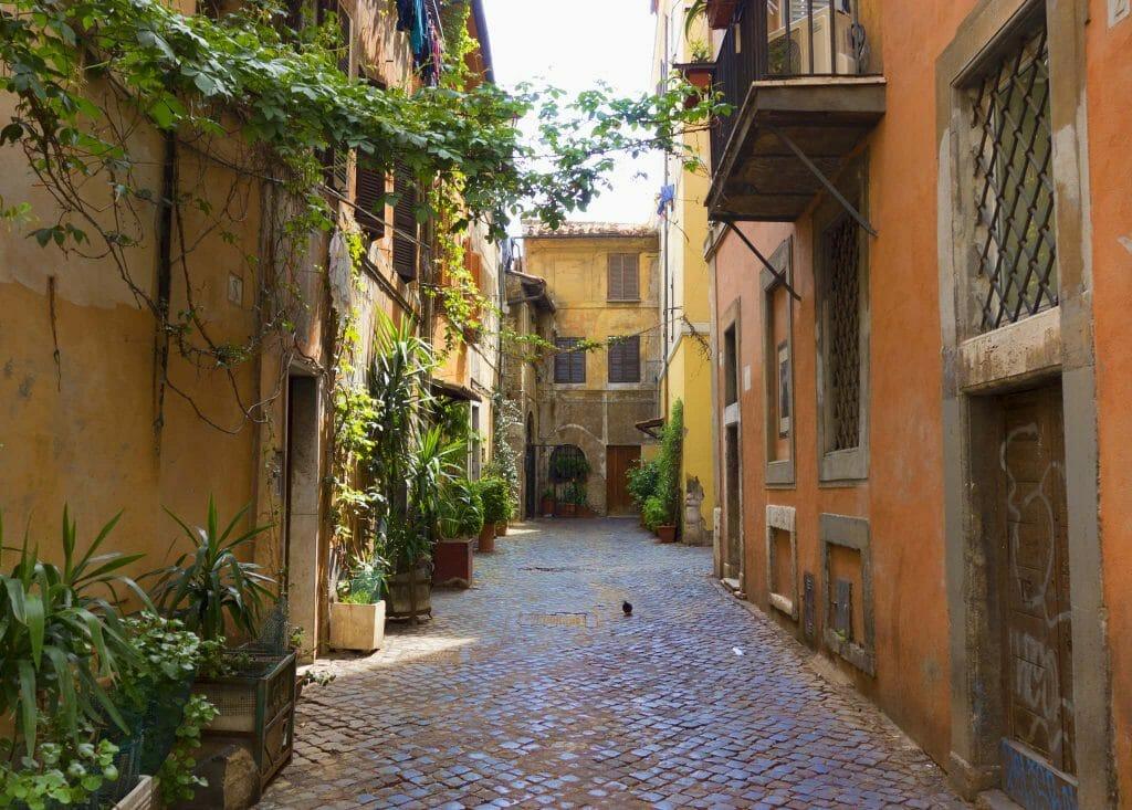 ruelle trastevere rome