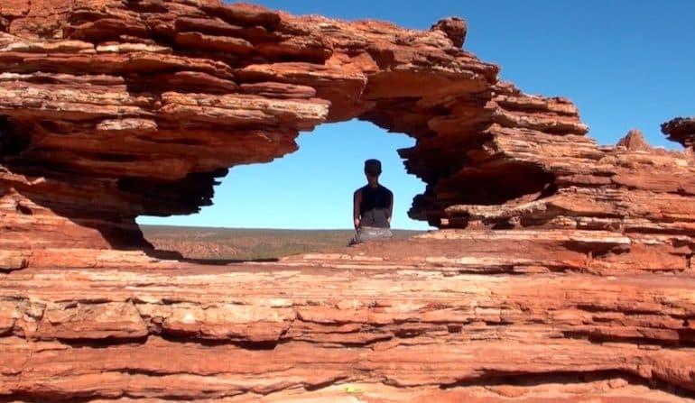 rocher fenetre kalbarri australie