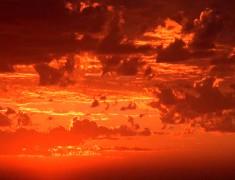 ciel coucher de soleil australie