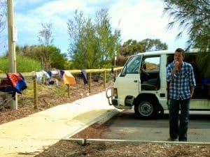 la vie sur les parking en road trip australie en van