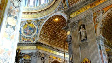 interieur basilique st pierre de rome vatican