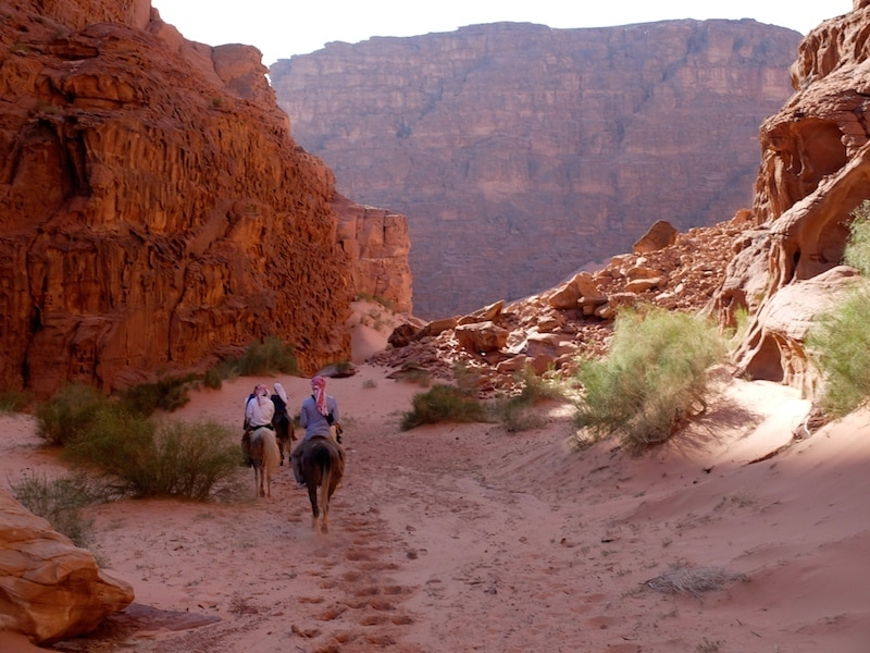 randonnee a cheval canyon wadi rum