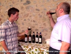 dégustation au Castel Pietraio - vignoble