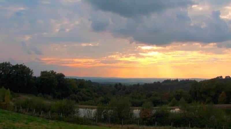 coucher de soleil collines st fereoles brive
