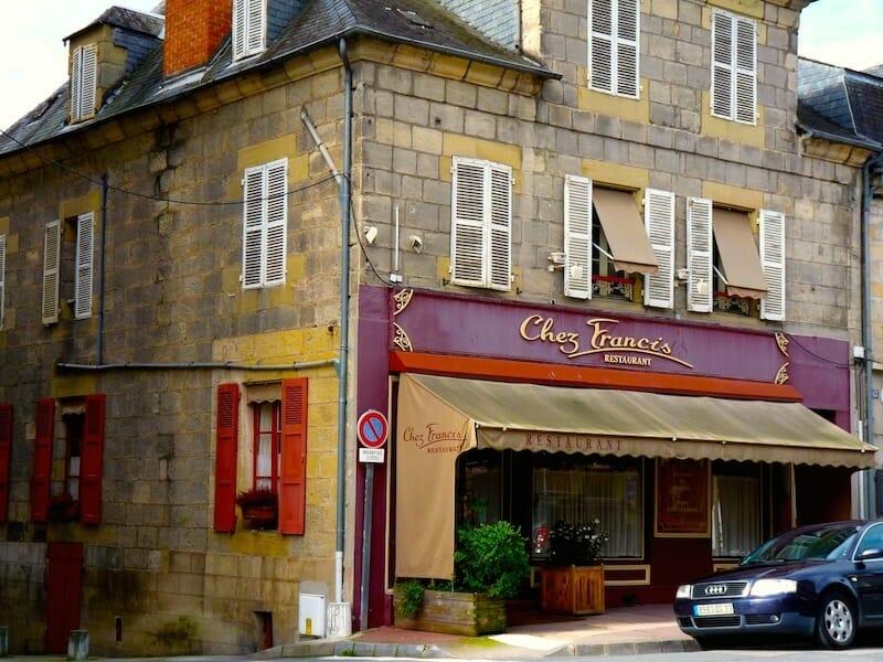 facade restaurant chez Francis
