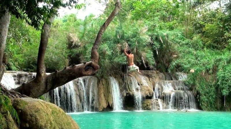 Luang Prabang cascades - Laos tour du monde