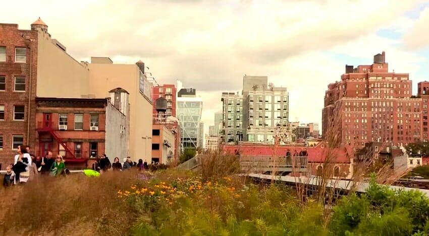 high line vue sur new york