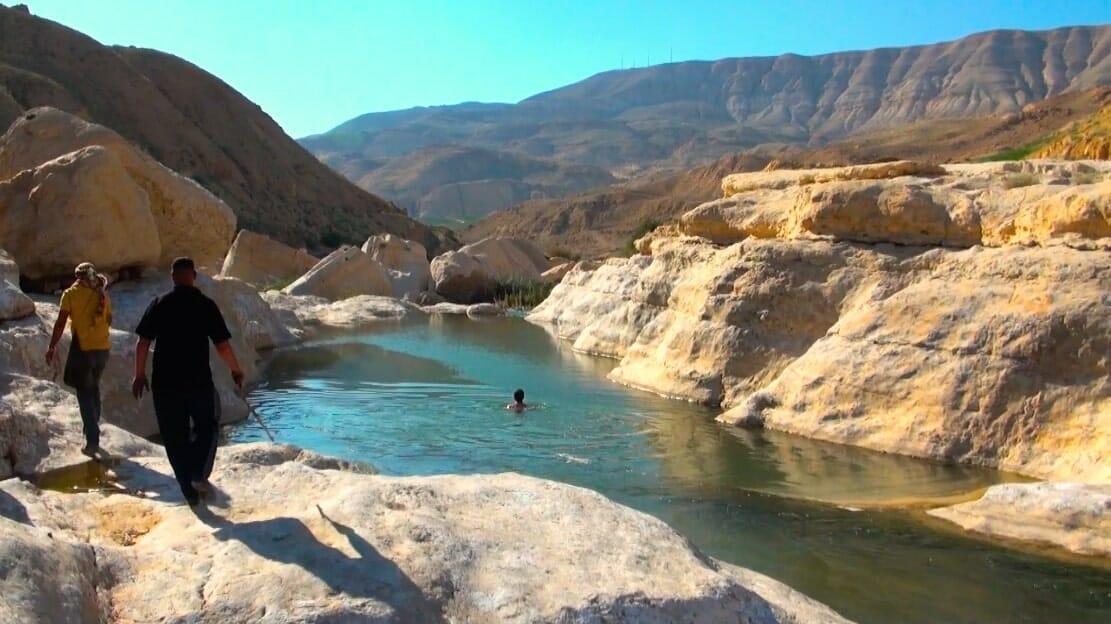 baignade wadi mujib jordanie
