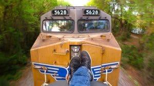 voyager train marchandise amérique