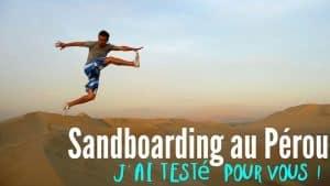 Sandboarding pérou huacachina 3