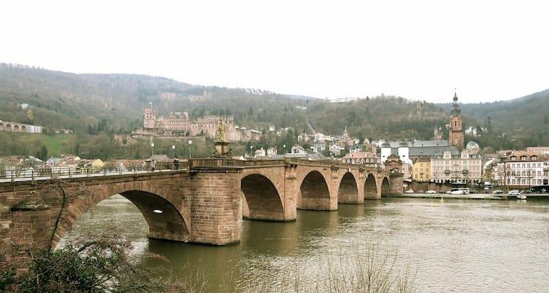 Vieille ville Heidelberg weekend marche de noel