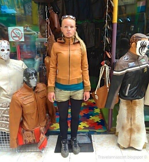 manteau en cuir la paz bolivie
