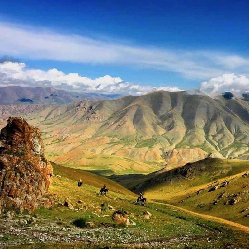 trek cheval kirghizistan