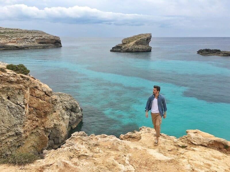 Le Blue Lagoon sur l'île de Comino. Une chose à faire et à voir à Malte.